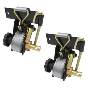 Ladder Rack Ratchet Tie Down Straps Pair Square Mount Replaces Buyers 5480005