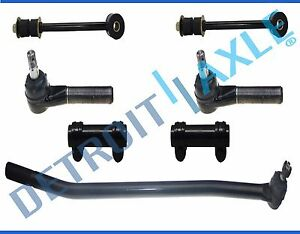 7pc Front Inner Outer Sway Bar Links Adjusting Sleeves 92 97 Ford F 350 4x4 4wd