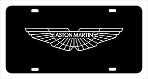 aston Martin License Plate Custom Made Of Chrome Plated Metal
