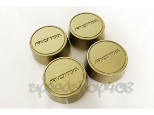 Rota Wheels Center Caps Gold Moda 4pcs Grid V Track R Aleica Gt3