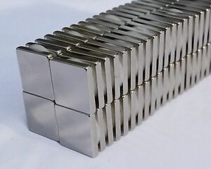 10 25 50 100 Square Magnets 1 X 1 X 1 4 Strongest N52 Rare Earth Neodymium 53