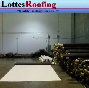 3 5 X 40 60 Mil White Epdm Rubber Roofing By The Lottes Companies