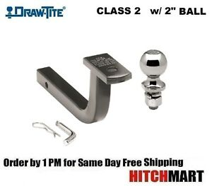Class 2 Trailer Hitch Mount Pin Clip With 2 Ball 1 1 4 Receiver 36065 820