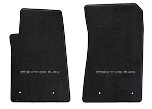 New Black Floor Mats 2010 2015 Camaro Embroidered Logo In Black Letters Pair