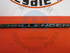 Dodge Challenger Gray Black challenger 3d Blacktop Grill Badge New Oem Mopar