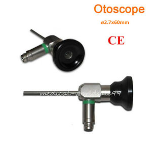 0 Auriscope Endoscope 2 7x60mm Otoscope Ear Mirror Connector Fit Storz wolf A