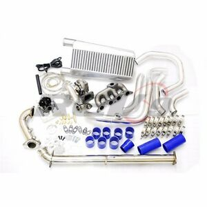 Rev9 01 05 Civic D17 T3 Direct Bolt On Complete Turbo Charger Kit Full 325hp