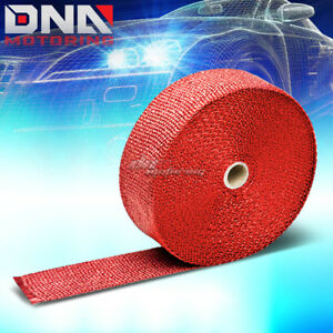 Racing Exhaust Header Turbo Manifold Downpipe Red Heat Wrap 2 X 1 16 X 600 15m