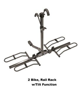 2 Bike Rail Rack Carrier Trailer Hitch Mount For 2 1 1 4 Receiver 63134