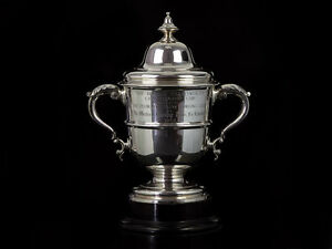 1903 Large Western Morning News Sterling Silver Trophy Cup