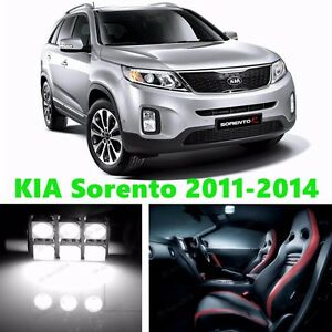 11pcs Led Xenon White Light Interior Package Kit For Kia Sorento 2011 2014