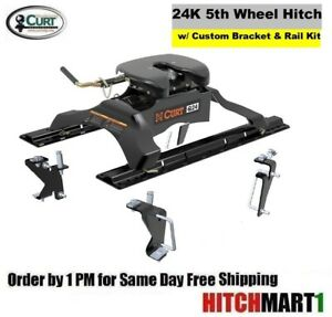 24k Curt 5th Fifth Wheel Trailer Hitch Package 2003 2012 Dodge Ram 3500 Pickup