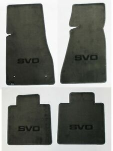 New 1984 1986 Ford Mustang Svo Smoke Grey Floor Mats With Embroidered Logo All