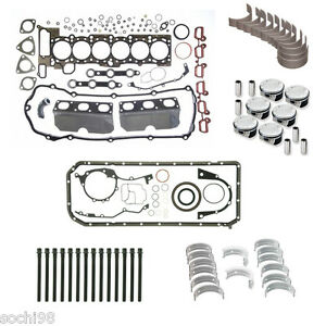 Bmw E39 E46 E53 E83 X5 M54 3 0 Engine Rebuild Kit 01 06 Gasket Pistons Rings