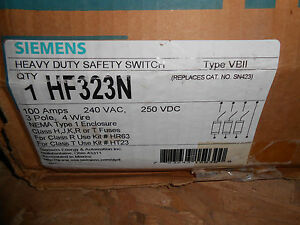 Siemens Hf323n Disconnect 100 Amp 240 Volt Safety Switch