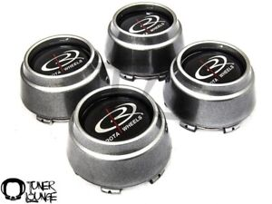 Rota Wheels Center Caps Hyper Black 4pcs Replacement Set P45r P45 Rb