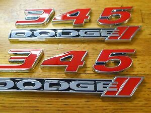 Dodge Challenger Charger Magnum Jeep Chrysler 345 Dodge 5 7l Emblems Set Red New