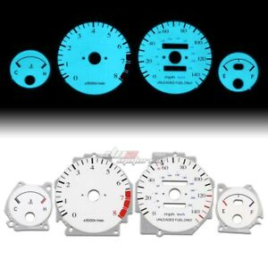 White Indiglo Glow Gauge El Dashboard Cluster For 90 93 Integra Gs Rs Ls At Auto
