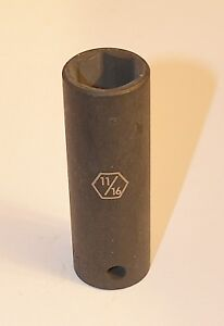 11 16 Inch 1 2 Drive 6 Point Deep Impact Socket Free Shipping