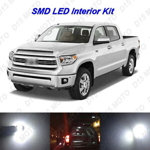 18 X Ultra White Led Interior Lights Kit For 2016 2017 2018 2019 Toyota Tundra