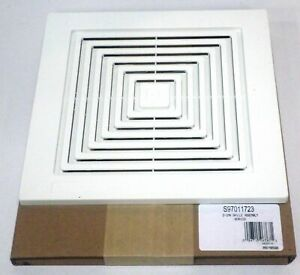 Broan Nutone 97011723 Bath Bathroom Ceiling Fan Grille Grill Cover Plastic White