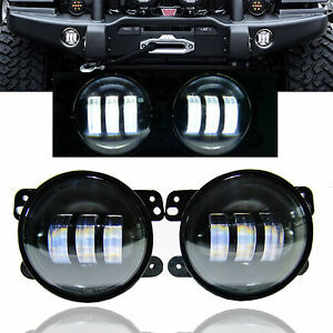 07 17 Jeep Wrangler Jk Cj Tj 4inch Round Cree Led Driving Fog Light Bumper Lamp