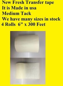 4 Rolls 6 X 300 Feet Application Transfer Tape Vinyl Signs Adhesive Made Inusa