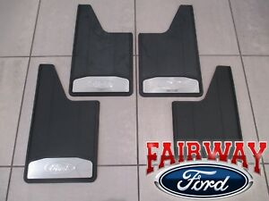 15 Thru 20 F 150 Oem Ford Splash Guards Mud Flaps W Stainless Inserts 4 Pc Set