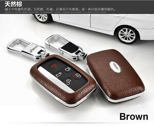 New Remote Leather Case Fob Key Cover Fit For Land Lr4 Range Rover Evoque Sport