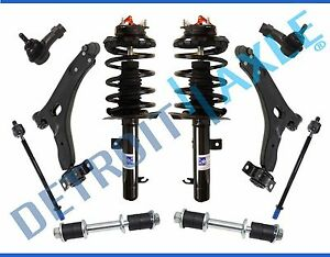 New 10pc Complete Front Suspension And Quick Strut Kit 2008 Focus 2 0l And 2 3l