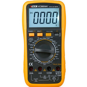 1 Vc9804a Digital Multimeter Resistance Capacitor Meter Tester Thermometer