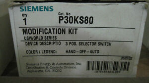 Nib Siemens p30ks820 Modification Kit 3 Position Selector Switch