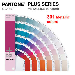 Pantone Plus Series Color Formula Guide Gg1507 Metallics coated 301 Colors
