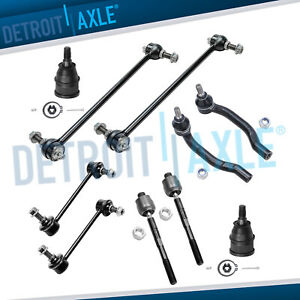2001 2005 Acura Mdx Honda Pilot Sway Bar End Tierod Lower Ball Joint Kit 10pc