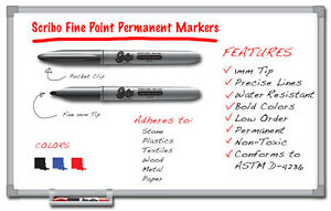 Qty 144 Scirbo Sharpie Fine Point Permanent Markers Black Red Blue