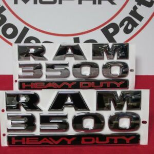 Dodge Ram 3500 Set Of 2 ram 3500 Heavy Duty Emblems New Oem Mopar