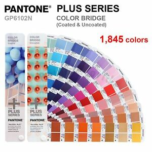 Pantone Plus Series Gp6102n Color Bridge coated Uncoated 1845 Colors New
