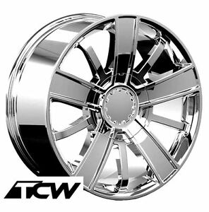 20 Inch Chevy Silverado 2014 High Country Oe Replica Chome Wheels Rims 6x5 50