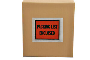 5 5 X 10 Packing List Enclosed Full Face Slip Holders Envelopes 6000 Pouches