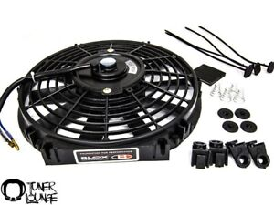 Blox Racing Black 12 Inch Slim Electric Fans Honda Acura Civic Integra Universal