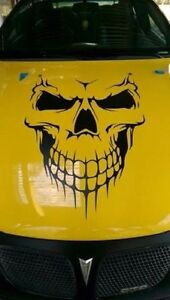 Skull Hood Decal Large 36 Graphic Sticker Car Truck Trailer Boat Vinyl Pro Made