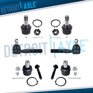 6pc Upper Lower Ball Joint Outer Tie Rod Kit For 1987 1996 Ford F 150 2wd Only