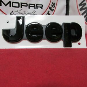 Jeep Grand Cherokee Rear Gloss Black Liftgate Emblem New Oem Mopar