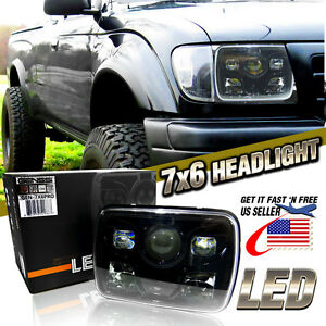 7x6 Led Built In Cree Hid Bulb Seal Beam Low Beam Headlight Headlamp Assembly 1