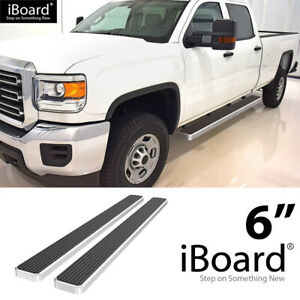Iboard Running Boards 6 Inches Fit 07 18 Chevy Silverado Gmc Sierra Crew Cab
