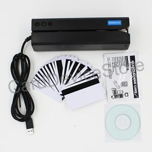 Usb Hico Magnetic Strip Credit Card Reader Writer Encoder Swipe 3 track Msr Mag