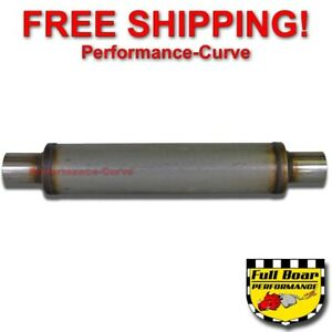 Performance Muffler Max Flow Stainless Steel 2 25 4 Round 18 Body Jxs0425