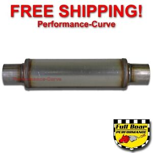 Performance Muffler Max Flow Stainless Steel 2 5 4 Round 14 Body Jxs0416