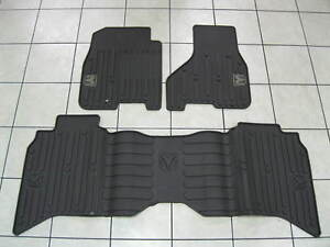 Dodge Ram Mega Crew Cab Rubber Slush Floor Mat Set Front Rear New Oem Mopar