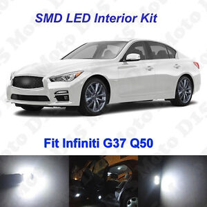 13x White Led Interior License Plate Bulbs Kit For 2007 2018 Infiniti G37 Q50